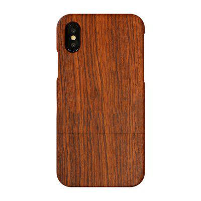 Phone Shell for iPhone X  Wood Carved Patterns Pear Solid Wood Protective Cover