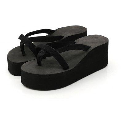 """Ladies Solid Color Beach Sandals Fashion Thick Bottom SlippersSlippers &amp; Flip-Flops<br>Ladies Solid Color Beach Sandals Fashion Thick Bottom Slippers<br><br>Available Size: 35 - 43<br>Gender: For Women<br>Heel Height: 7cm<br>Heel Height Range: Med(1.75""""-2.75"""")<br>Heel Type: Wedge Heel<br>Outsole Material: EVA<br>Package Contents: 1 x Slippers (pair)<br>Pattern Type: Solid<br>Platform Height: 4cm<br>Season: Summer<br>Slipper Type: Outdoor<br>Style: Fashion<br>Upper Material: EVA<br>Weight: 1.3440kg"""
