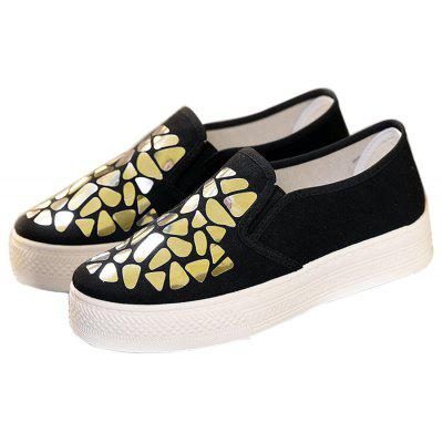 Women Sequined Canvas Shoes Casual Slip-on SneakersWomens Sneakers<br>Women Sequined Canvas Shoes Casual Slip-on Sneakers<br><br>Available Size: 35 - 40<br>Closure Type: Slip-On<br>Flat Type: Slingbacks<br>Gender: For Women<br>Occasion: Casual<br>Outsole Material: Rubber<br>Package Contents: 1 x Shoes (pair)<br>Package size (L x W x H): 28.00 x 18.00 x 10.00 cm / 11.02 x 7.09 x 3.94 inches<br>Package weight: 0.7000 kg<br>Pattern Type: Others<br>Season: Summer, Spring/Fall<br>Toe Shape: Round Toe<br>Toe Style: Closed Toe<br>Upper Material: Canvas