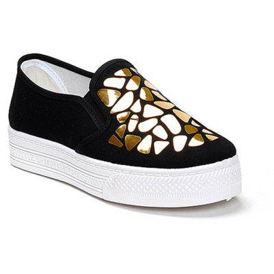Women Sequined Canvas Shoes Casual Slip-on Sneakers