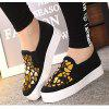 Women Sequined Canvas Shoes Casual Slip-on Sneakers - BLACK