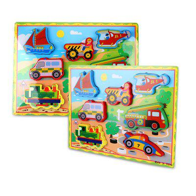 Woodiness Vehicle Jigsaw Puzzle Toy