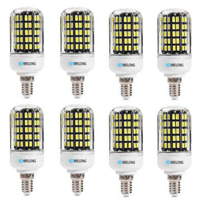 BRELONG E14 SMD5733 6W 9W 12W 15W 18W Corn Light AC220-240V 8PCSCorn Bulbs<br>BRELONG E14 SMD5733 6W 9W 12W 15W 18W Corn Light AC220-240V 8PCS<br><br>Brand: BRELONG<br>Color Temperature or Wavelength: 3000-3500k  6000-6500k<br>Connection: E14<br>Connector Type: E14<br>Dimmable: No<br>Initial Lumens ( lm ): 600 , 900 , 1200 , 1500 , 1800<br>LED Beam Angle: 360 Degree<br>Lifetime ( h ): More Than  30000<br>Light Source Color: White,Warm White<br>Material: ABS<br>Package Contents: 8 x BRELONG Corn Light<br>Package size (L x W x H): 11.00 x 24.00 x 4.00 cm / 4.33 x 9.45 x 1.57 inches<br>Package weight: 0.2880 kg<br>Primary Application: Home,Living Room,Home or Office,Living Room or Dining Room,Everyday Use<br>Product size (L x W x H): 9.40 x 3.00 x 3.00 cm / 3.7 x 1.18 x 1.18 inches<br>Product weight: 0.0320 kg<br>Type: LED Corn Lights<br>Voltage: 220-240V<br>Wattage: Other