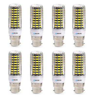 BRELONG B22 SMD5733 6W 9W 12W 15W 18W Corn Light AC220-240V 8PCSCorn Bulbs<br>BRELONG B22 SMD5733 6W 9W 12W 15W 18W Corn Light AC220-240V 8PCS<br><br>Brand: BRELONG<br>Color Temperature or Wavelength: 3000-3500K 6000-6500K<br>Connection: B22<br>Dimmable: No<br>Initial Lumens ( lm ): 600 , 900 , 1200 , 1500 , 1800<br>LED Beam Angle: 360 Degree<br>Lifetime ( h ): More Than  30000<br>Light Source Color: White,Warm White<br>Material: ABS<br>Package Contents: 8 x BRELONG Corn Light<br>Package size (L x W x H): 11.00 x 24.00 x 4.00 cm / 4.33 x 9.45 x 1.57 inches<br>Package weight: 0.2560 kg<br>Primary Application: Home,Living Room,Home Decoration,Home or Office,Living Room or Dining Room,Everyday Use<br>Product size (L x W x H): 9.50 x 3.00 x 3.00 cm / 3.74 x 1.18 x 1.18 inches<br>Product weight: 0.0230 kg<br>Type: LED Corn Lights<br>Voltage: 220-240V<br>Wattage: Other