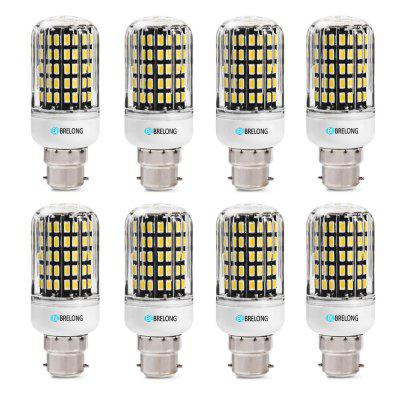 BRELONG B22 SMD5733 6W 9W 12W 15W 18W Corn Light AC220-240V 8PCSCorn Bulbs<br>BRELONG B22 SMD5733 6W 9W 12W 15W 18W Corn Light AC220-240V 8PCS<br><br>Brand: BRELONG<br>Color Temperature or Wavelength: 3000-3500K 6000-6500K<br>Connection: B22<br>Dimmable: No<br>Initial Lumens ( lm ): 600 , 900 , 1200 , 1500 , 1800<br>LED Beam Angle: 360 Degree<br>Lifetime ( h ): More Than  30000<br>Light Source Color: White,Warm White<br>Material: ABS<br>Package Contents: 8 x BRELONG Corn Light<br>Package size (L x W x H): 11.00 x 24.00 x 4.00 cm / 4.33 x 9.45 x 1.57 inches<br>Package weight: 0.2880 kg<br>Primary Application: Home,Living Room,Home Decoration,Home or Office,Living Room or Dining Room,Everyday Use<br>Product size (L x W x H): 9.50 x 3.00 x 3.00 cm / 3.74 x 1.18 x 1.18 inches<br>Product weight: 0.0230 kg<br>Type: LED Corn Lights<br>Voltage: 220-240V<br>Wattage: Other