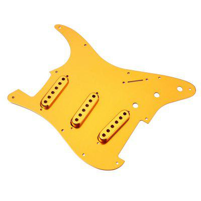 Guitar SSS Anodized Pickguard Single Pickup Cover Shield Aluminum AlloyGuitar Parts<br>Guitar SSS Anodized Pickguard Single Pickup Cover Shield Aluminum Alloy<br><br>Materials: Aluminum Alloy<br>Package Contents: 1 x Pickguard , 1 x Pickup Cover Set<br>Package size: 33.00 x 22.80 x 1.80 cm / 12.99 x 8.98 x 0.71 inches<br>Package weight: 0.1420 kg<br>Suitable for: Electric Guitar<br>Type: Other, Pickguard