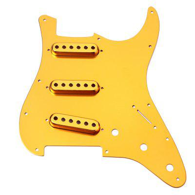 Guitar SSS Anodized Pickguard Single Pickup Cover Shield Aluminum Alloy