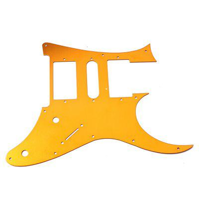 Gold Yellow Guitar Pickguard HSH for Stratocaster StratGuitar Parts<br>Gold Yellow Guitar Pickguard HSH for Stratocaster Strat<br><br>Materials: Aluminum Alloy<br>Package Contents: 1 x Pickguard<br>Package size: 33.00 x 22.80 x 0.20 cm / 12.99 x 8.98 x 0.08 inches<br>Package weight: 0.0940 kg<br>Suitable for: Electric Guitar<br>Type: Pickguard