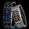 LED Alloy Chain  Men Watch - BLACK