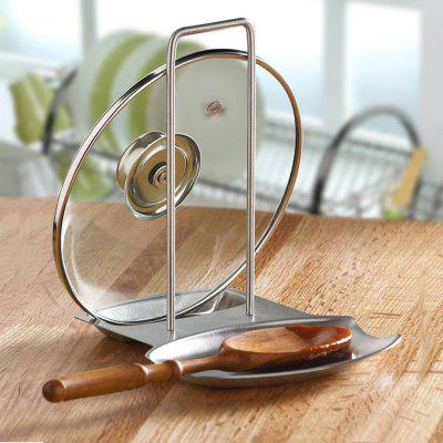 304 Stainless Steel 2 In 1 Lid And Spoon Holders Kitchen Utensils Holders