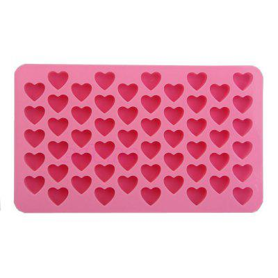 Silicone 55 Heart Shaped Candy Chocolate Cake Baking Pan Mold