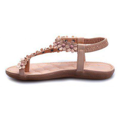 Summer Women Causal Sandals PU Flat Shoes for GirlsWomens Sandals<br>Summer Women Causal Sandals PU Flat Shoes for Girls<br><br>Available Size: 35-41<br>Closure Type: Elastic band<br>Gender: For Women<br>Heel Type: Flat Heel<br>Insole Material: PU<br>Occasion: Casual<br>Outsole Material: Rubber<br>Package Content: 1 x Sandals (pair)<br>Pattern Type: Floral<br>Sandals Style: Ankle-Wrap<br>Style: Fashion<br>Upper Material: PU<br>Weight: 1.0080kg