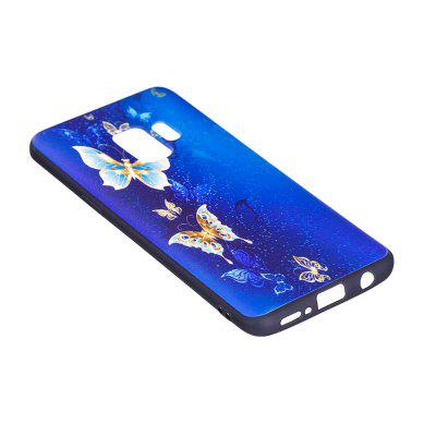 Relief Silicone Case for Samsung Galaxy S9 Golden Butterfly Pattern Soft TPU Protective Back Cover