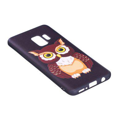 Relief Silicone Case for Samsung Galaxy S9 Owl Pattern Soft TPU Protective Back Cover protective silicone soft back case for samsung galaxy note 3 n9000 translucent pink