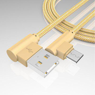 1M Android Micro Cable Charge for Samsung  Xiaomi 90 Degree Honor HuaweiChargers &amp; Cables<br>1M Android Micro Cable Charge for Samsung  Xiaomi 90 Degree Honor Huawei<br><br>Accessories type: Cable<br>Cable Length (cm): 100<br>For: Samsung Mobile Phone, Samsung Tablet<br>Interface Type: V8, Micro USB<br>Material ( Cable&amp;Adapter): Metal, Others, Nylon<br>Package Contents: 1 x cable<br>Package size (L x W x H): 5.00 x 20.00 x 2.00 cm / 1.97 x 7.87 x 0.79 inches<br>Package weight: 0.0500 kg<br>Type: Cable