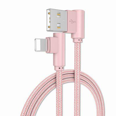 1M Charge iPhone 6/7/8/X 90 Degree Cable for ipad
