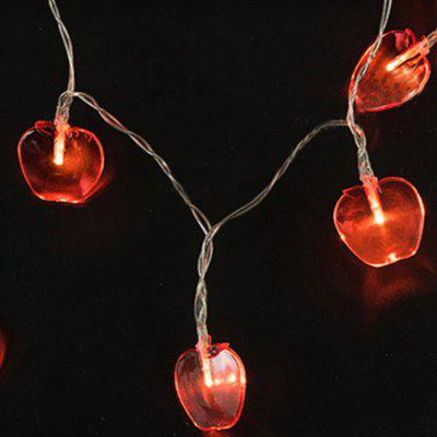 Red Fruit String Lights LED Home Decor Light Home Garden Battery Powered 1.65M 10 LEDLED Strips<br>Red Fruit String Lights LED Home Decor Light Home Garden Battery Powered 1.65M 10 LED<br><br>Beam Angle: 300<br>Color Temperature or Wavelength: 3000-3200K<br>Features: Festival Lighting<br>LED Quantity: 10<br>Length ( m ): 1.65 m<br>Light Source: LED<br>Package Content: 1 xRed Fruit String Light<br>Package size (L x W x H): 10.00 x 5.00 x 10.00 cm / 3.94 x 1.97 x 3.94 inches<br>Package weight: 0.1000 kg<br>Product weight: 0.0800 kg<br>Type: String Lights<br>Voltage: 3V<br>Wattage (W): 3