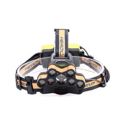 U`King ZQ-X867 6000LM 7x XML-T6 + 2x Q5 6 Mode Multifunctional Head Lamp for Camping Hiking FishingHeadlights<br>U`King ZQ-X867 6000LM 7x XML-T6 + 2x Q5 6 Mode Multifunctional Head Lamp for Camping Hiking Fishing<br><br>Adjustable Focus: No<br>Available Light Color: White<br>Battery Included or Not: No<br>Battery Quantity: 2<br>Battery Type: 18650 Battery, 18650<br>Beam Distance: 100-200m<br>Body Material: Aluminum, ABS<br>Color Temperature: 6000-6500K<br>Emitters Quantity: 9<br>Feature: Headlamp, Lightweight, Rechargeable<br>Function: Hiking, Camping, Fishing<br>Headlight Brand: UKing<br>Luminous Flux: 6000LM<br>Main Emitters: Other,XM-L T6<br>Mode: all strobe, 3xT6, 5xT6, 7xT6, 2xQ5,  all on<br>Mode Memory: No<br>Package Contents: 1 x Headlamp 1 x Micro USB Charge Cable, 1 x English Manual<br>Package size (L x W x H): 12.00 x 11.60 x 10.00 cm / 4.72 x 4.57 x 3.94 inches<br>Package weight: 0.2000 kg<br>Power Source: Battery<br>Product size (L x W x H): 2.53 x 1.80 x 1.10 cm / 1 x 0.71 x 0.43 inches<br>Product weight: 0.1780 kg<br>Rechargeable: Yes<br>Switch Location: Head<br>Switch Type: Clicky<br>Type: LED Headlamp
