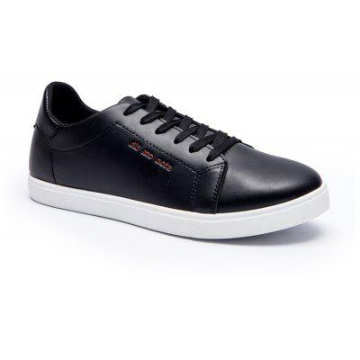 Men Fashion PU Flat Shoes Casual Sneakers for Students