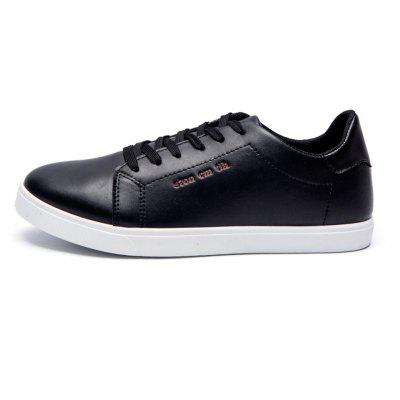 Men Fashion PU Flat Shoes Casual Sneakers for StudentsMen's Sneakers<br>Men Fashion PU Flat Shoes Casual Sneakers for Students<br><br>Available Size: 39 - 44<br>Closure Type: Lace-Up<br>Embellishment: None<br>Gender: For Men<br>Occasion: Casual<br>Outsole Material: Rubber<br>Package Contents: 1 x Shoes (pair)<br>Pattern Type: Solid<br>Season: Summer, Spring/Fall<br>Toe Shape: Round Toe<br>Toe Style: Closed Toe<br>Upper Material: PU<br>Weight: 0.9360kg