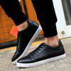 Men Fashion PU Flat Shoes Casual Sneakers for Students - BLACK
