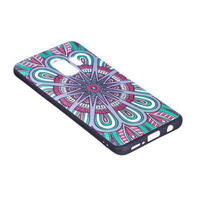 Relief Silicone Case for Samsung Galaxy S9 Mandala Pattern Soft TPU Protective Back Cover
