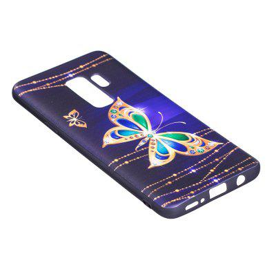 Relief Silicone Case for Samsung Galaxy S9 Plus Large Butterfly Pattern Soft TPU Protective Back Cover