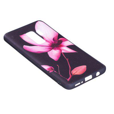Relief Silicone Case for Samsung Galaxy S9 Plus Lotus Pattern Soft TPU Protective Back Cover