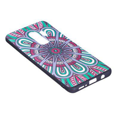 Relief Silicone Case for Samsung Galaxy S9 Plus Mandala Pattern Soft TPU Protective Back Cover protective silicone soft back case for samsung galaxy note 3 n9000 translucent pink