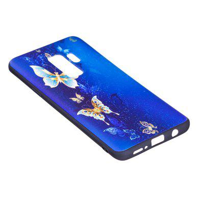 Relief Silicone Case for Samsung Galaxy S9 Plus Golden Butterfly Pattern Soft TPU Protective Back Cover