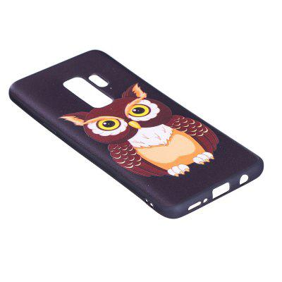 Relief Silicone Case for Samsung Galaxy S9 Plus Owl Pattern Soft TPU Protective Back Cover enkay protective tpu back case cover w stand for samsung galaxy note 4 n9100 green