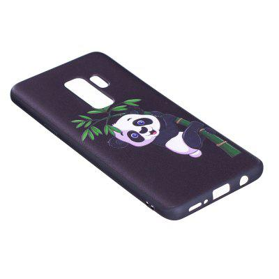 Relief Silicone Case for Samsung Galaxy S9 Plus Bamboo Panda Pattern Soft TPU Protective Back Cover