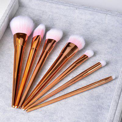 7 PCS Plastic Handle Make Up Brush SuitMakeup Brushes &amp; Tools<br>7 PCS Plastic Handle Make Up Brush Suit<br><br>Brush Material: Fiber Hair<br>Handle Material: Plastic<br>Package Content: 7 x Brushes<br>Package size (L x W x H): 21.00 x 14.50 x 2.00 cm / 8.27 x 5.71 x 0.79 inches<br>Package weight: 0.0880 kg<br>Product weight: 0.0750 kg<br>Used With: Blusher,Eye Shadow,Eyebrow Powder