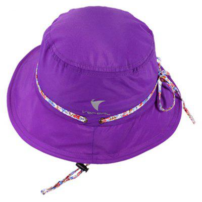 Vepeal Fashion Colorful plegable anti ultravioleta sombrero de ala ancha