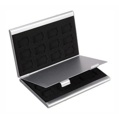 Aluminum Double-Layer High-Capacity Mobile Phone Memory Card Protection Box