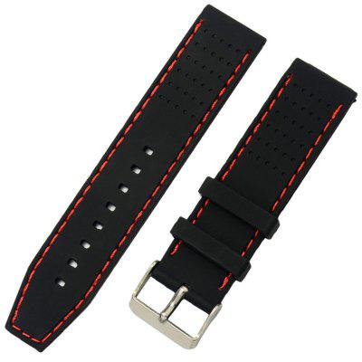 Silicone Watch Rubber Strap Wrist Band 22mm