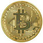 Gearbest BALDR Gold Plated Coin Collectible BitCoin Art Collection Gift Physical