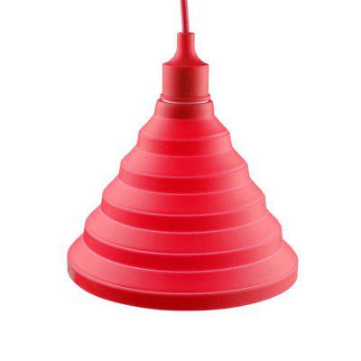 Cartoon Silicone Foldable Pendant Lamp for Living Room Restaurant (Bulb Not Included)