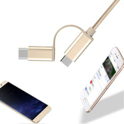 100cm 2 in 1 Fast Charger Cable Is Suitable for Android Type-CChargers &amp; Cables<br>100cm 2 in 1 Fast Charger Cable Is Suitable for Android Type-C<br><br>Accessories type: Cable<br>Cable Length (cm): 100<br>Color: Gold,Gold<br>Interface Type: USB Type-C, Micro USB<br>Material ( Cable&amp;Adapter): Nylon<br>Package Contents: 1 x USB Cable<br>Package size (L x W x H): 8.00 x 8.00 x 1.50 cm / 3.15 x 3.15 x 0.59 inches<br>Package weight: 0.0350 kg<br>Product weight: 0.0300 kg<br>Type: Cable