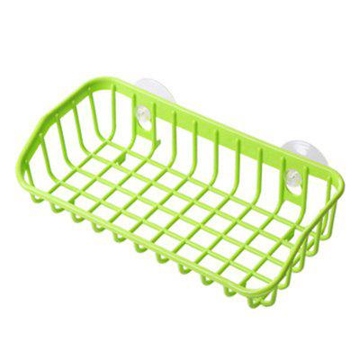 Buy Double Suction Drain Kitchen Shelf Cleaning Sponge Storage Rack GREEN 21CMX10CMX5CM for $4.00 in GearBest store