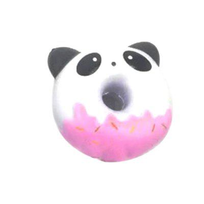 Jumbo Squishy PU Slow Rising Stress Relief Toy Replica Cartoon Panda Sorriso Face Donut para Adultos