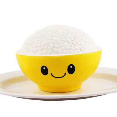Jumbo Squishy PU Slow Rising Stress Relief Toy Replica A Bowl of Rice for Adults