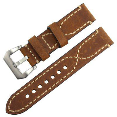 Buy B1899 Thick Smart Watch Wristband Belt 20mm 22mm 24mm 26mm DEEP BROWN 22MM for $8.06 in GearBest store
