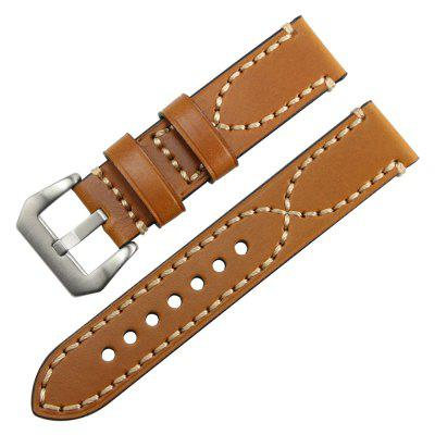 Buy B1899 Thick Smart Watch Wristband Belt 20mm 22mm 24mm 26mm LIGHT BROWN 24MM for $8.06 in GearBest store