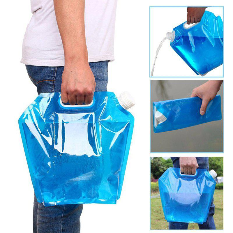 Prático 5L Portable Folding Water Storage Bag Outdoor Camping Hiking Survival Kit Tool
