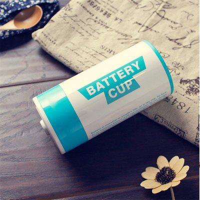 Creative Battery Shape Insulation Stainless Steel CupWater Cup &amp; Bottle<br>Creative Battery Shape Insulation Stainless Steel Cup<br><br>Package Contents: 1 x Cup<br>Package size (L x W x H): 17.00 x 8.00 x 8.00 cm / 6.69 x 3.15 x 3.15 inches<br>Package weight: 0.1800 kg