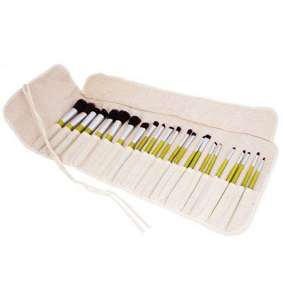 23PCS Bamboo Make Up Brushes SuitMakeup Brushes &amp; Tools<br>23PCS Bamboo Make Up Brushes Suit<br><br>Brush Material: Fiber Hair<br>Handle Material: Bamboo<br>Package Content: 23 x Brush<br>Package size (L x W x H): 23.00 x 14.00 x 4.00 cm / 9.06 x 5.51 x 1.57 inches<br>Package weight: 0.5000 kg<br>Product weight: 0.4600 kg<br>Used With: Eyeliner,Lip,Foundation,Blusher,Eye Shadow,Sets / Kits,Eyebrow Powder