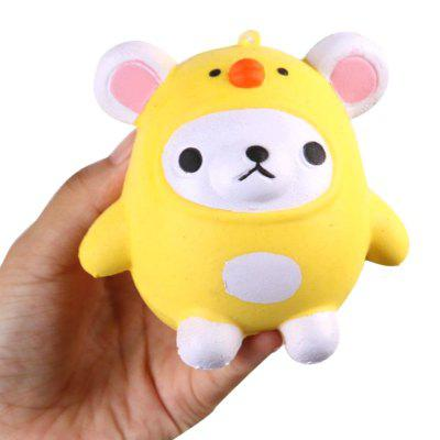 Jumbo Squishy PU Slow Rising Stress Relief Pendant Toy Replica Cartoon Chick para Adultos
