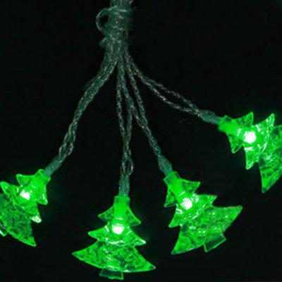 Battery-Powered Green Christmas Tree String Light for Home and Garden Decoration 10 LEDs and 1.65mLED Strips<br>Battery-Powered Green Christmas Tree String Light for Home and Garden Decoration 10 LEDs and 1.65m<br><br>Beam Angle: 300<br>Color Temperature or Wavelength: 6000-6500K<br>Features: Festival Lighting<br>LED Quantity: 10<br>Length ( m ): 1.65 m<br>Light Source: LED<br>Package Content: 1 x Green Christmas Tree String Light<br>Package size (L x W x H): 10.00 x 5.00 x 10.00 cm / 3.94 x 1.97 x 3.94 inches<br>Package weight: 0.1500 kg<br>Product size (L x W x H): 165.00 x 4.00 x 4.00 cm / 64.96 x 1.57 x 1.57 inches<br>Product weight: 0.1200 kg<br>Type: String Lights<br>Voltage: 3V<br>Wattage (W): 3