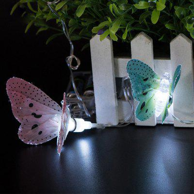 Battery Powered Plastic Fiber Butterfly String Light For Home And Garden  Decoration 10 LEDs And